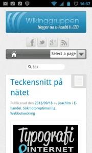 Wikinggruppens blogg i mobilen