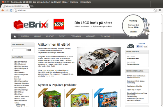 ebrix.se - lego på nätet
