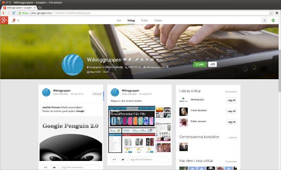 Företagssida på Google+