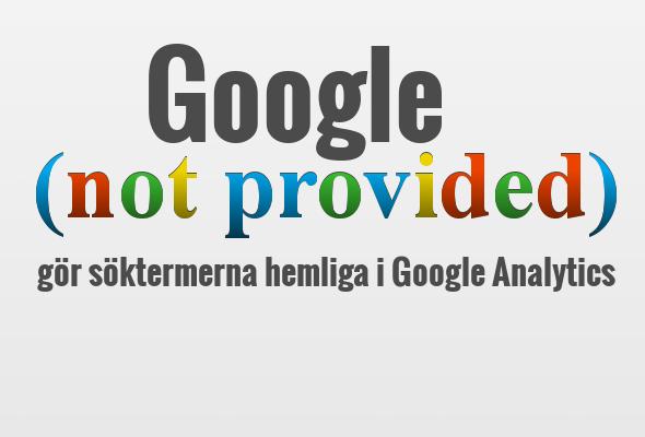 Google gör söktermer hemliga i Analytics